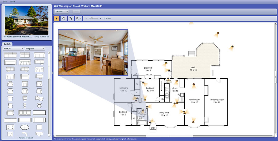 Property floor plans home listing photography for Interactive home plans