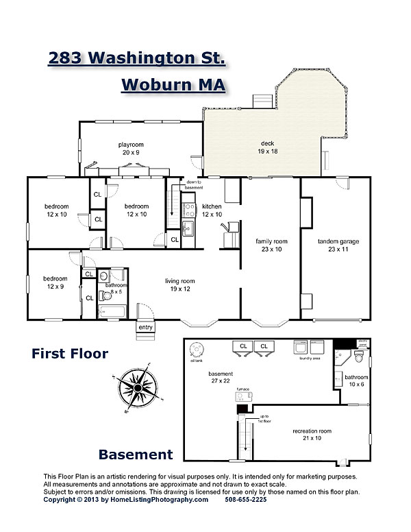 pdf version of floor plan with agent's information