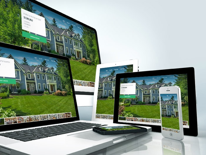 individual real estate property websites